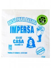 BOLSA IMPERSA COLOR * 6 UND