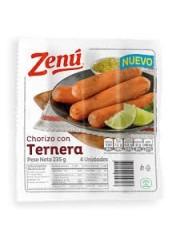 CHORIZO ZENU TERNERA *4UND...